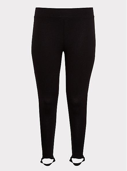 Premium Legging - Stirrup Inset Black, BLACK, hi-res