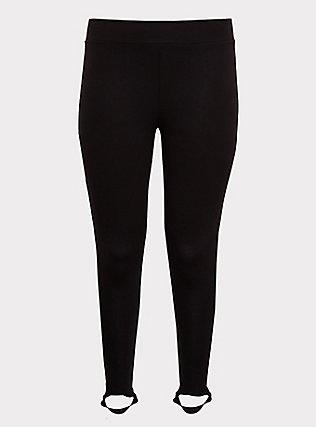 Premium Legging - Stirrup Inset Black, BLACK, flat