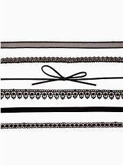 Black Lace Choker Set - Set of 6, , alternate