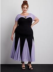 Disney The Little Mermaid Ursula Purple Maxi Dress, DEEP BLACK, hi-res