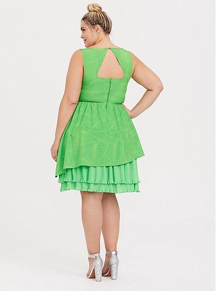 Disney Tinkerbell Lime Green Skater Dress, GREEN, alternate
