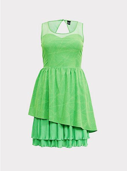 Disney Tinkerbell Lime Green Skater Dress, GREEN, hi-res