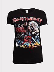 Iron Maiden Black Slim Fit Crew Tee, DEEP BLACK, hi-res