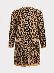 Leopard Brushed Cardigan, , hi-res