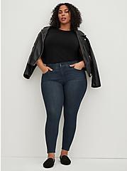 Plus Size Bombshell Skinny Jean - Premium Stretch Dark Wash, CLEAN DARK, alternate