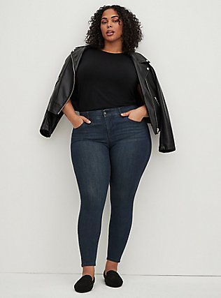 Bombshell Skinny Jean - Premium Stretch Dark Wash, CLEAN DARK, alternate