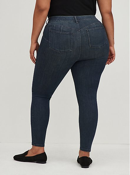 Plus Size Bombshell Skinny Jean - Premium Stretch Dark Wash, CLEAN DARK, alternate