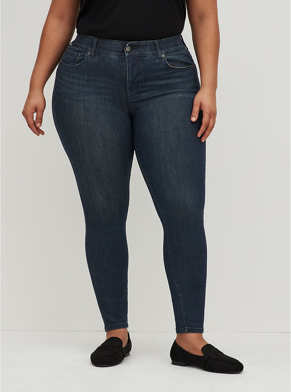 Plus Size Bombshell Skinny Jean - Premium Stretch Dark Wash, CLEAN DARK, hi-res