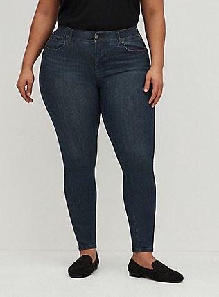 Bombshell Skinny Jean - Premium Stretch Dark Wash, CLEAN DARK, hi-res