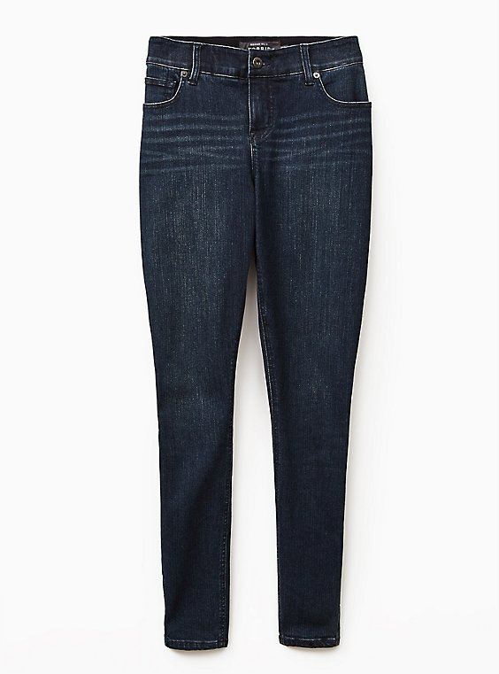 Bombshell Skinny Jean - Premium Stretch Dark Wash, CLEAN DARK, ls