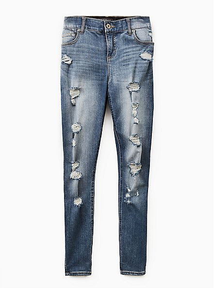 Bombshell Skinny Jean - Premium Stretch Medium Wash, TIDES, hi-res