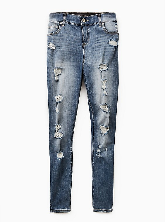 Bombshell Skinny Jean - Premium Stretch Medium Wash, TIDES, ls