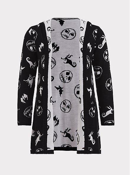 Disney The Nightmare Before Christmas Black Cardigan with Hood, MULTI, hi-res