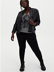 Premium Legging - Moto Black, BLACK, hi-res