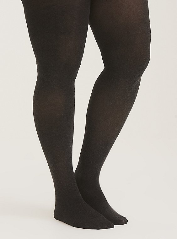 Grey Microfiber Tights, , hi-res