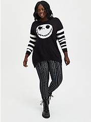 The Nightmare Before Christmas Jack Skellington Crossback Sweater, DEEP BLACK, alternate