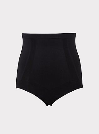 SPANX® - Black OnCore High-Waisted Brief Panty, RICH BLACK, flat