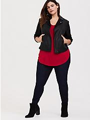 Plus Size Super Soft Red Favorite Tunic Tee, , alternate