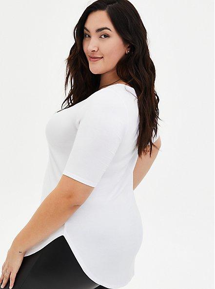 Favorite Tunic - Super Soft White , BRIGHT WHITE, alternate