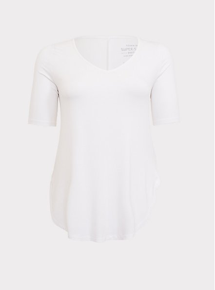 Favorite Tunic - Super Soft White , BRIGHT WHITE, hi-res