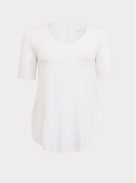 Favorite Tunic - Super Soft White , BRIGHT WHITE, hi-res