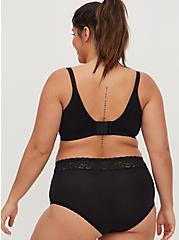 Black 360° Back Smoothing™ Lightly Lined T-Shirt Bra, RICH BLACK, alternate
