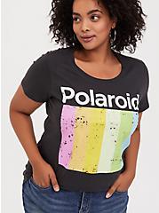 Polaroid Black Slim Fit Tee, DEEP BLACK, alternate
