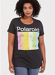 Polaroid Black Slim Fit Tee, DEEP BLACK, hi-res