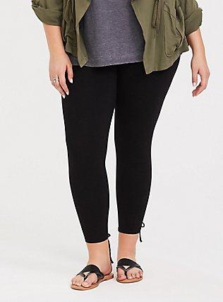 Premium Legging - Lattice Lace-Up Insert Black, BLACK, alternate