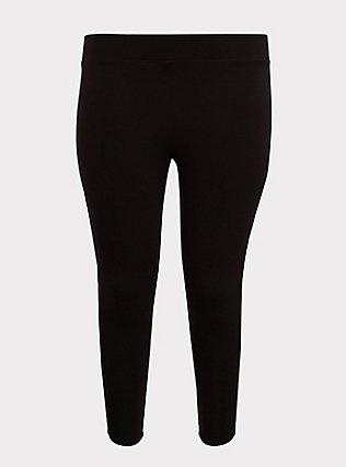 Premium Legging - Lattice Lace-Up Insert Black, BLACK, flat