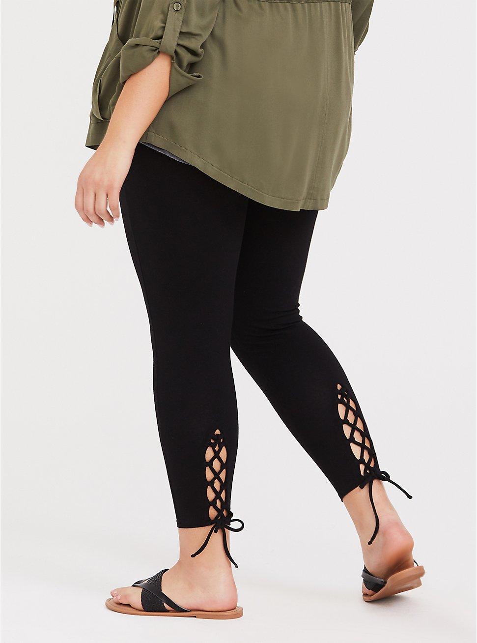 Premium Legging - Lattice Lace-Up Insert Black, BLACK, hi-res