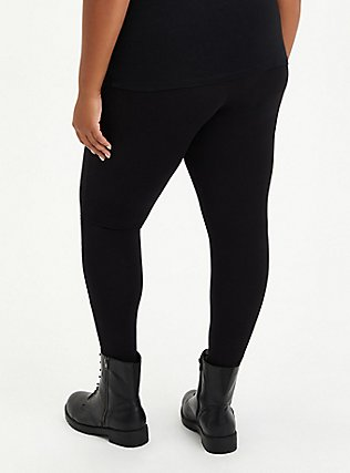 Premium Legging - Slashed Leopard Underlay Black, BLACK, alternate