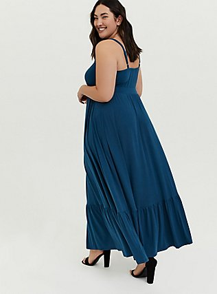 Navy Jersey Maxi Dress, INDIGO GARDEN, alternate