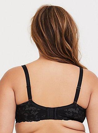 Grey & Black Lace Lightly Lined T-Shirt Bra, RICH BLACK, alternate
