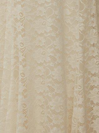 Ivory Lace Capelet Wedding Dress, CLOUD DANCER, alternate