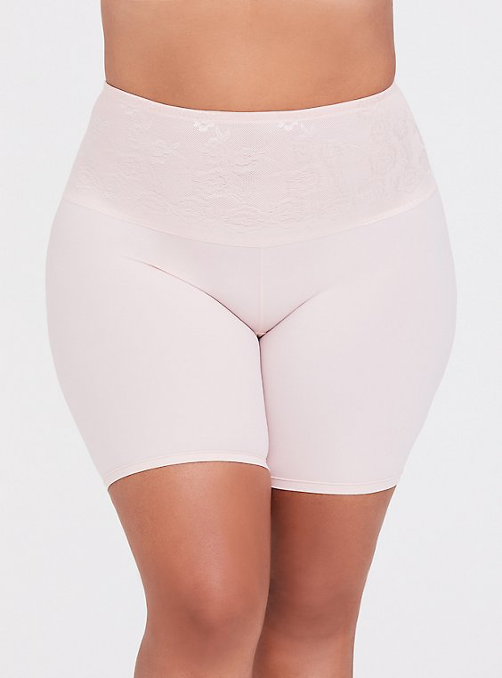 Pink Microfiber 360° Smoothing High-Waisted Short, , hi-res