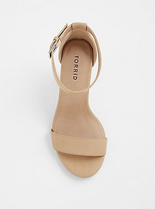 Nude Faux Nubuck Tapered Heel Sandal (WW), NUDE, alternate