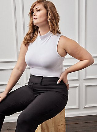 Studio Classic Millennium Stretch High Rise Relaxed Trouser - Black, DEEP BLACK, alternate