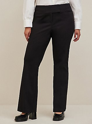 Plus Size Studio Classic Millennium Stretch High Rise Relaxed Trouser - Black, DEEP BLACK, alternate
