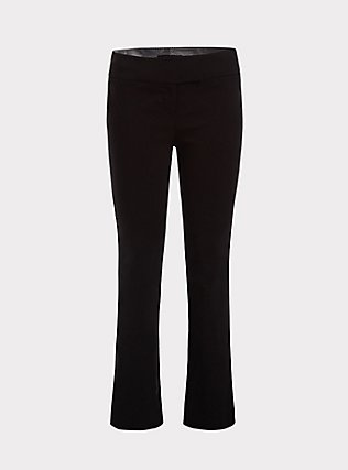 Studio Classic Millennium Stretch High Rise Relaxed Trouser - Black, DEEP BLACK, flat