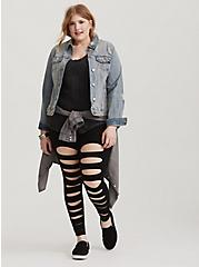 Premium Legging - Slashed Black, BLACK, hi-res