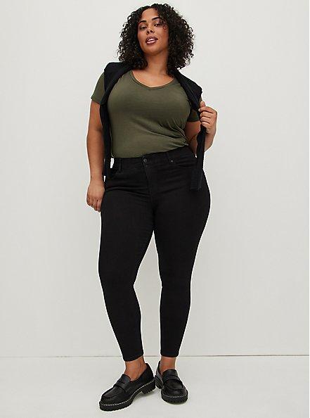 Bombshell Skinny Jean - Premium Stretch Black, BLACK, alternate