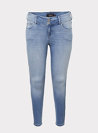 Jegging - Premium Stretch Light Wash, JETTY, flat