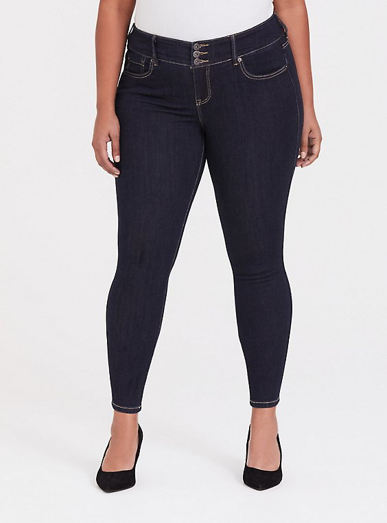 Plus Size Jegging - Premium Stretch Dark Wash, , hi-res