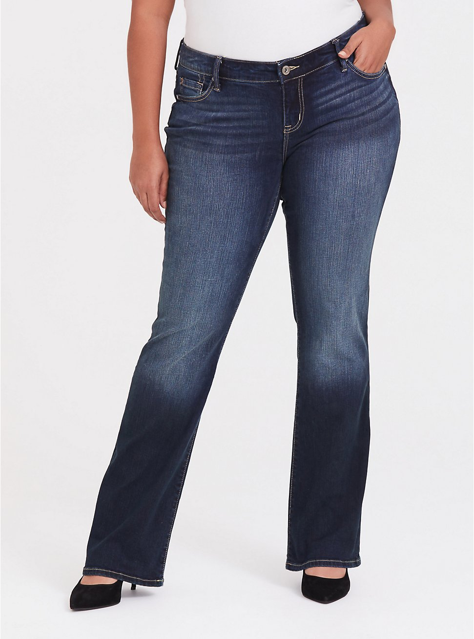 Relaxed Boot Jean - Vintage Stretch Dark Wash, BAYOU, hi-res