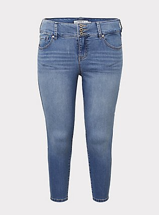 Jegging - Super Stretch Light Wash, GROUPIE, flat