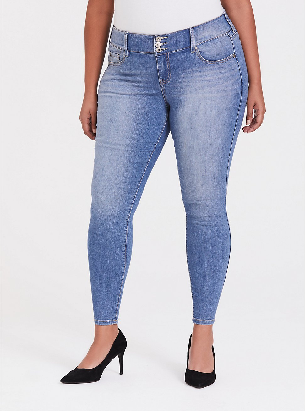 Plus Size Jegging - Super Stretch Light Wash, GROUPIE, hi-res