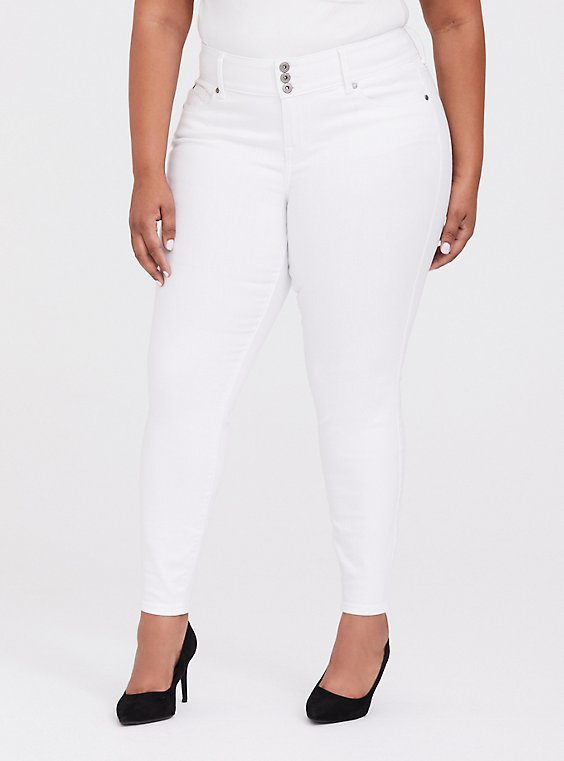 Jegging - Super Stretch White, , hi-res