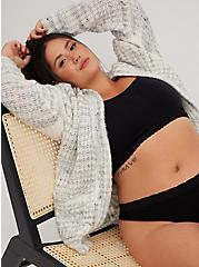 Black Seamless Lightly Padded Bralette, RICH BLACK, alternate