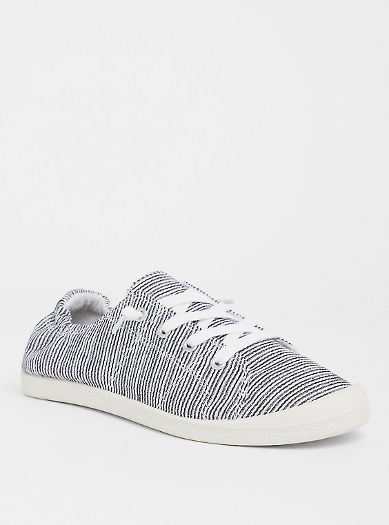 Plus Size Stripe Ruched Sneaker (WW), , hi-res